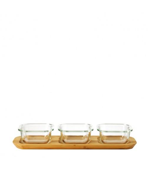 Set 4tlg Ofenformen Gusto 9x9 cm mit Servierplatte