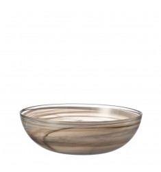 Schale Alabastro flach 28 cm beige