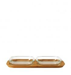 Set 3tlg Ofenformen Gusto 16x16 mit Servierplatte