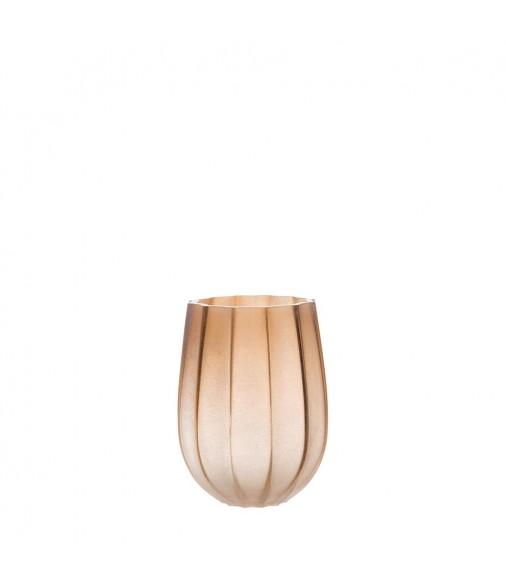 Windlicht Ferrara 21 cm braun