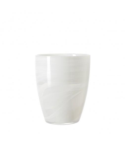 Vase/Windlicht Alabastro 19 cm weiss