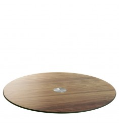 Servierplatte Turn 33 cm Holzoptik