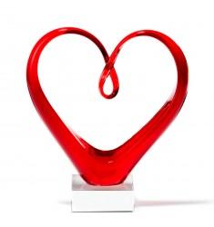 Skulptur Heart rot